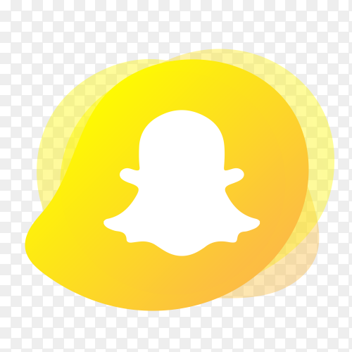 Snapchat logo with liquid shape PNG