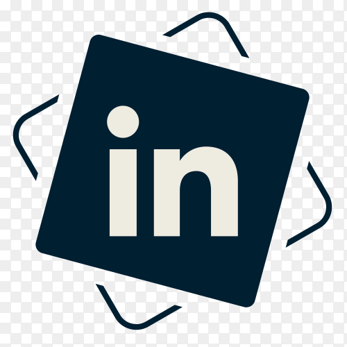 Social media Linkedin icon PNG