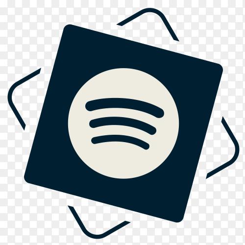 Social media Spotify icon PNG