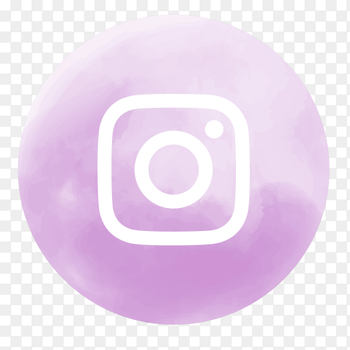 Soft watercolor Instagram logo PNG