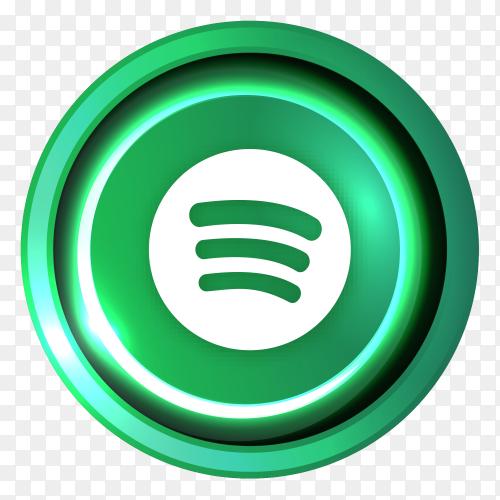Spotify logo in Luminous circle PNG
