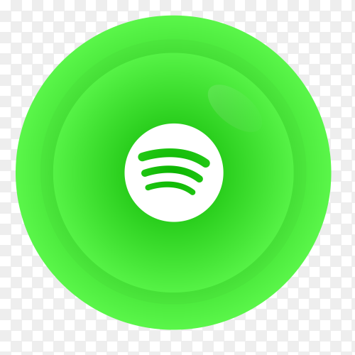Spotify logo in gradient circle PNG