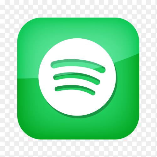 Spotify logo social network PNG
