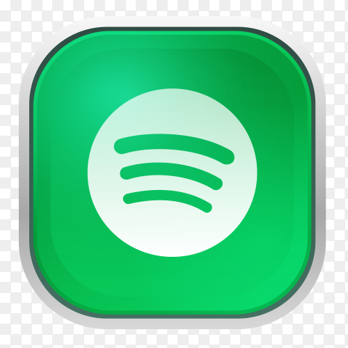 Spotify logo with gray frame PNG