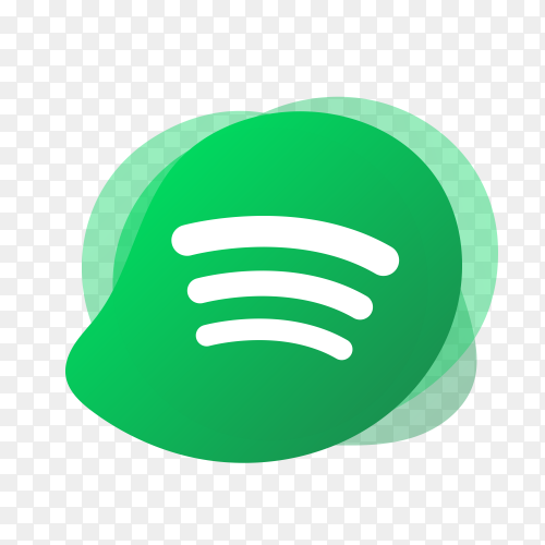 Spotify logo with liquid shape PNG