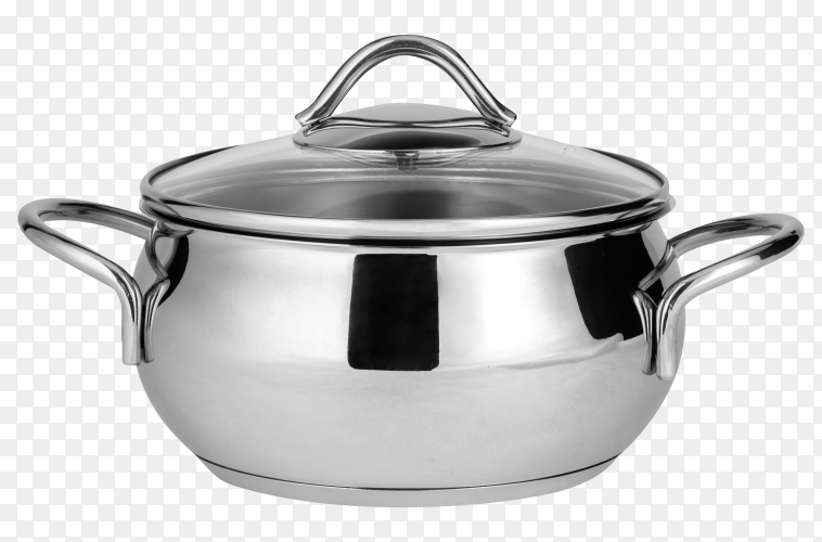 Stainless steel pot Premium Photo PNG