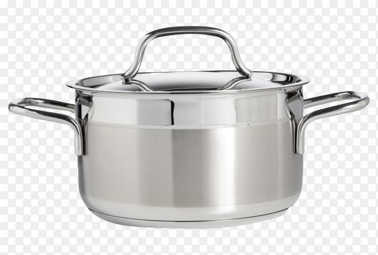 Stainless steel saucepan PNG