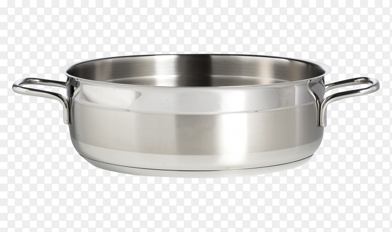 Stainless steel saucepan isolated PNG