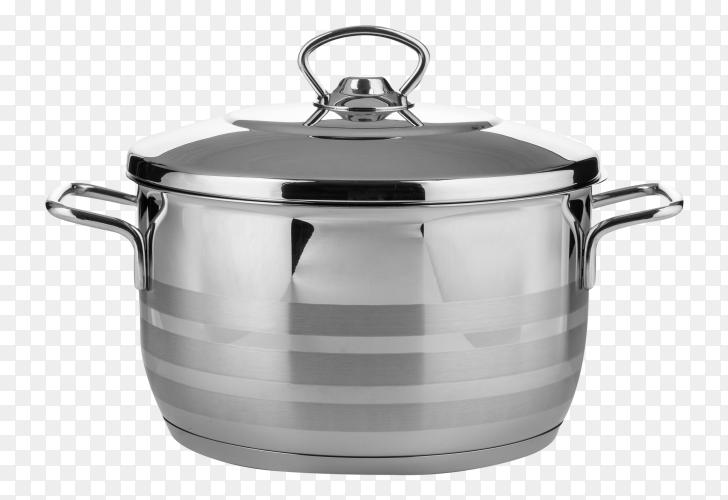 Stainless steel saucepan transparent PNG