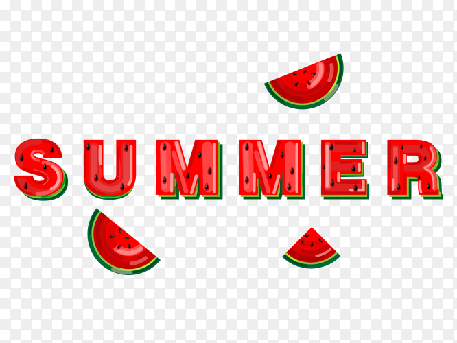 Summer watermelon banner Free download PNG