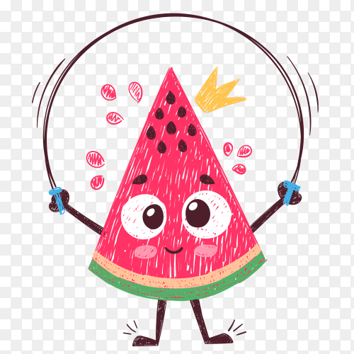 Sweet watermelon Vector PNG