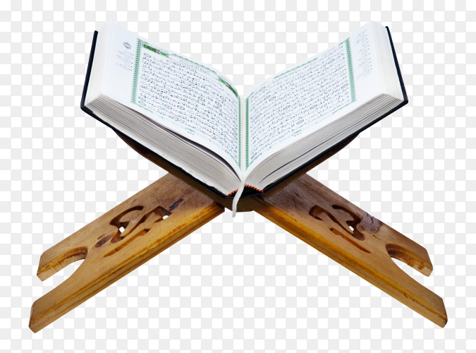 The holy Quran on a wooden PNG