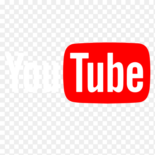 The official YouTube logo PNG
