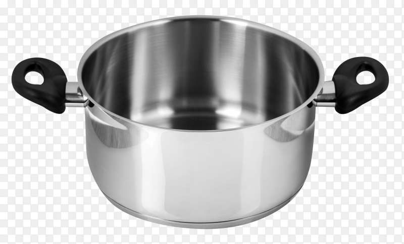 The stainless steel pot without cover PNG