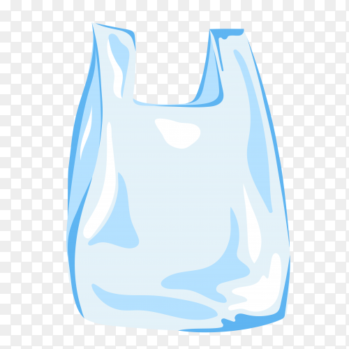 Transparent plastic bag vector PNG