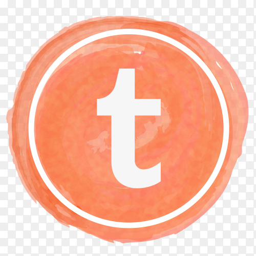 Tumblr icon watercolor PNG