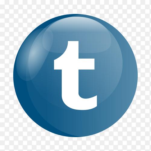 Tumblr logo glossy social media PNG