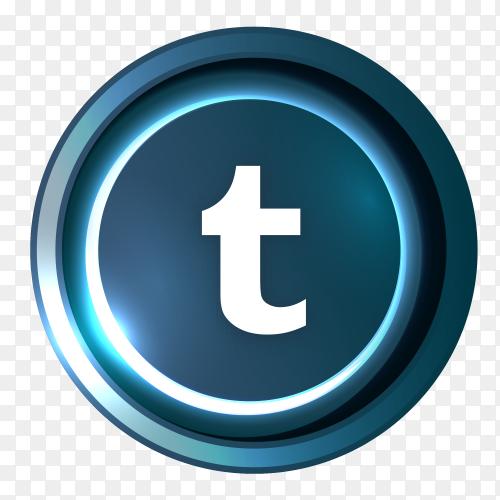 Tumblr logo in Luminous circle PNG
