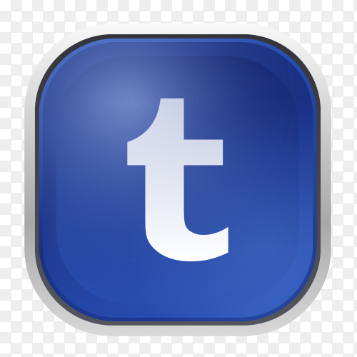 Tumblr logo with gray frame PNG