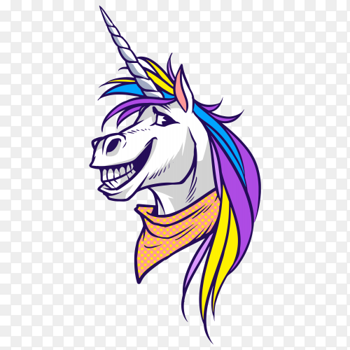 Unicorn happy horse PNG