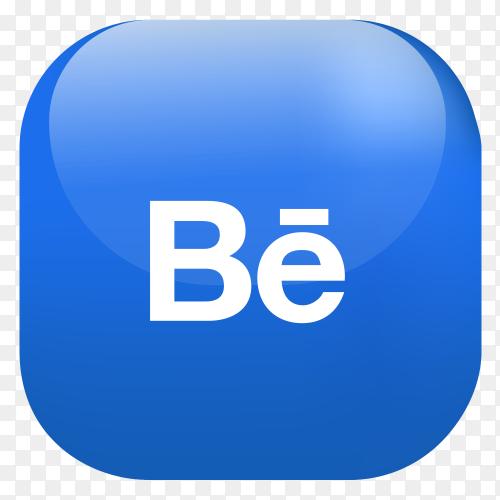 Vector Behance button PNG
