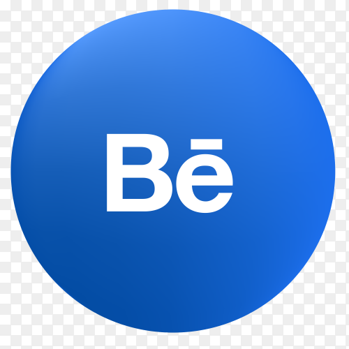 Vector Behance icon PNG