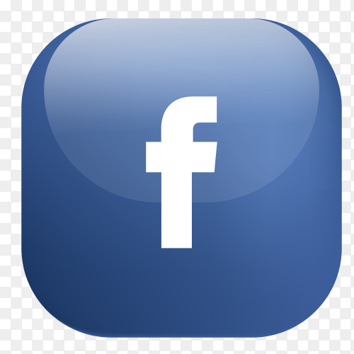 Vector Facebook button PNG