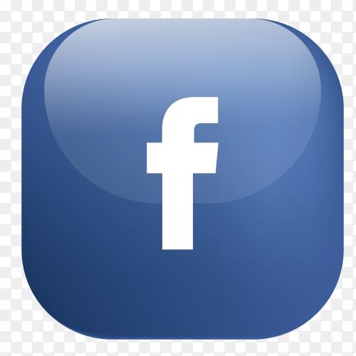 Vector Facebook button PNG