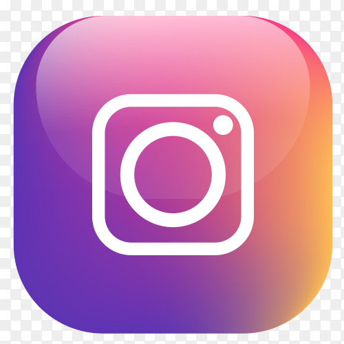 Vector Instagram button PNG
