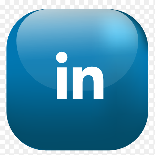 Vector Linkedin button PNG