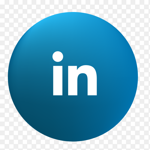 Vector Linkedin icon PNG