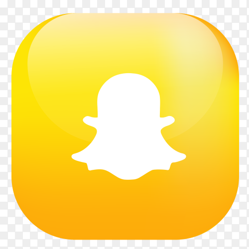 Vector Snapchat button PNG