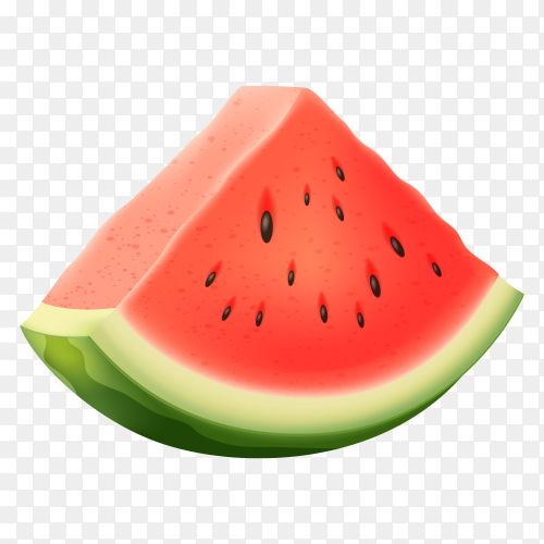 Vector illustration of water melon Free download PNG