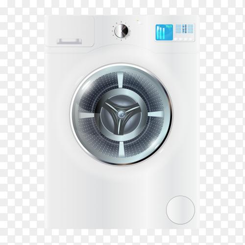 Vector modern washing machine PNG