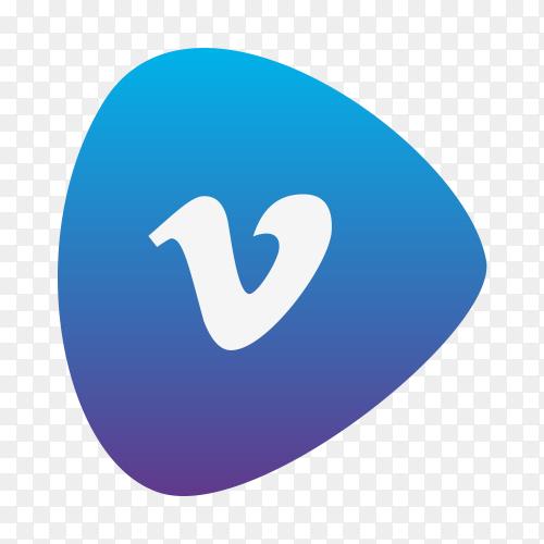 Vimeo logo gradient social media icon PNG