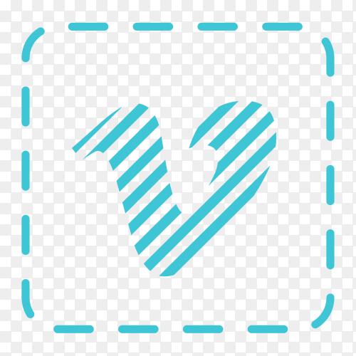 Vimeo logo social network texture PNG