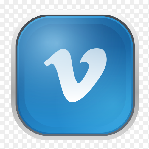 Vimeo logo with gray frame PNG