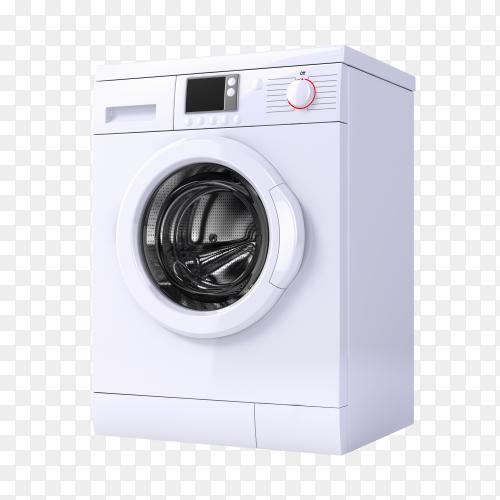 Washing machine 3d render transparent PNG