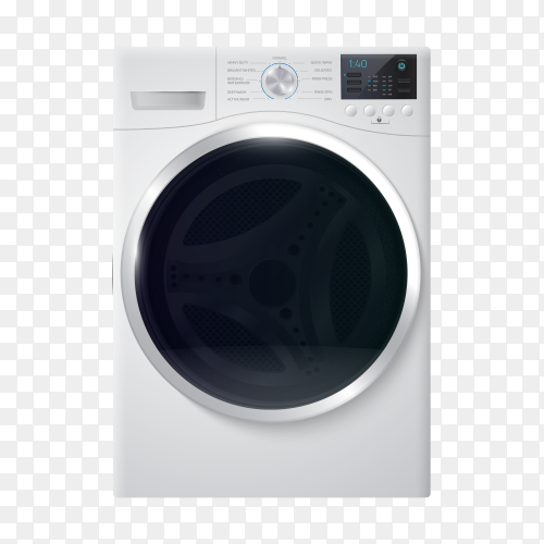 Washing machine realistic vector PNG