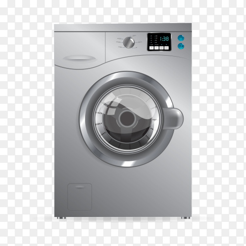 Washing machine transparent background PNG