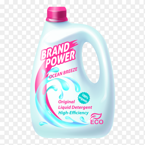 Washing powder liquid detergent vector PNG