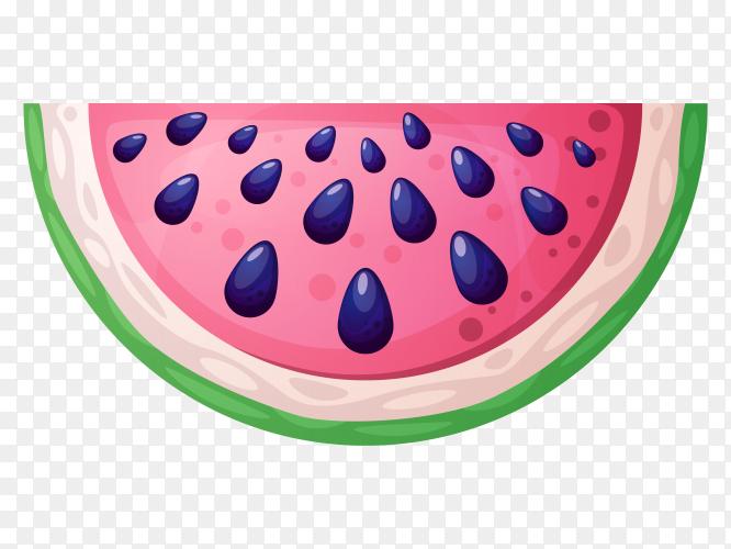 Watermelon cute illustration PNG