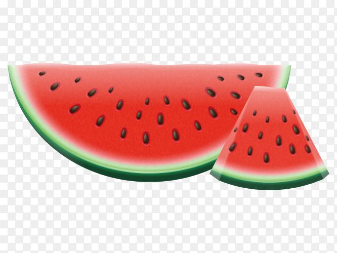 Watermelon ripe juicy vector Premium PNG