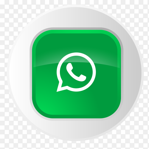 WhatsApp logo button in gray circle PNG