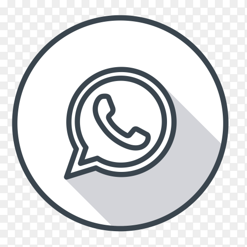 WhatsApp logo gray color PNG