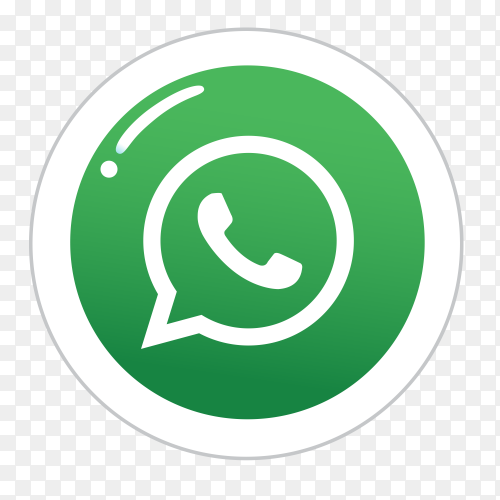 WhatsApp logo in a circle social media icon PNG