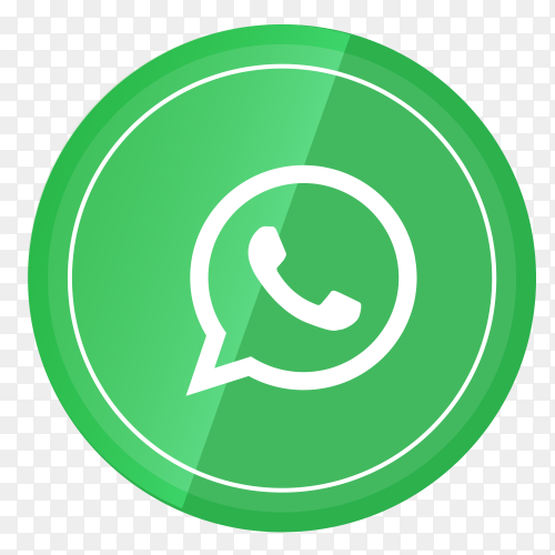 WhatsApp logo in a circle PNG