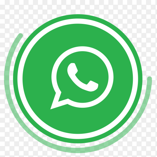 WhatsApp logo in circles PNG