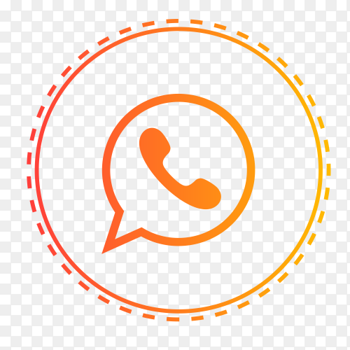 WhatsApp logo in points circle PNG