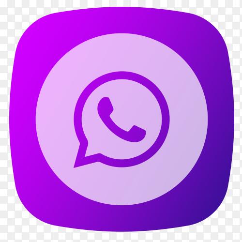 WhatsApp logo purple PNG
